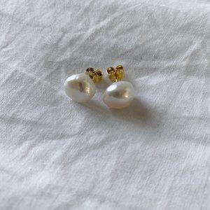 Freshwater pearl earrings handmade